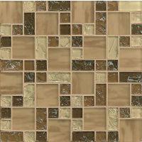 GLSMGICPG2 - Ice Crackle Glass Mosaic Mosaic - Brown