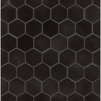 GRNABSBLKHEX - Absolute Black Mosaic - Absolute Black