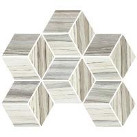 STPZEBPAL01MO - Zebrino Mosaic - Calacatta, Classico, Bluette