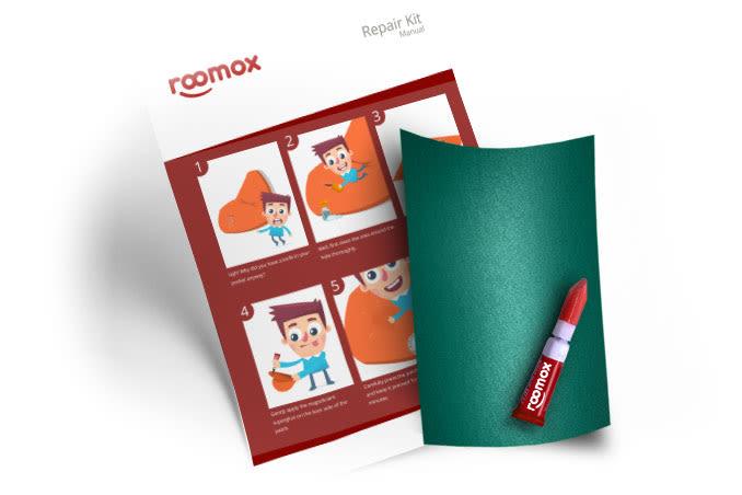 Roomox Beanbag Repairkit-NYL32 - Aqua Green