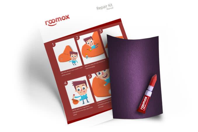 Roomox Beanbag Repairkit-NYL15 - Purple