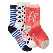 OshKosh Bgosh Girl 3-Pack Love Crew Socks Multi