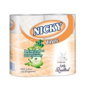 Nicky Elite Peach Toilet Rolls