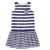 Gymboree Girl Sleeveless Striped Sweater Dress White Navy