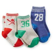 Carters Boy 3-Pack Baseball Socks