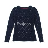 Tommy Girl Sweater L/s Navy Blue