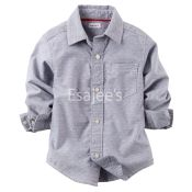 Carters Boy Button Front Shirt Print