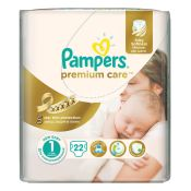 Pampers Premium Care Baby Diapers New Born No 1   2-5kg   22 Diapers