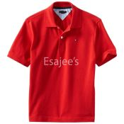 Tommy  Boy Pique Shirt Red