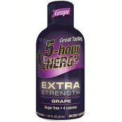 5 Hour Energy Shot Drink Extra Strength Grape