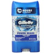 Gillette Power Beads Cool Wave Clear Gel Antiperspirant And Deodorant