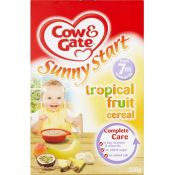 Cow And Gate Tropical Fruit Cereal  7 Month Plus