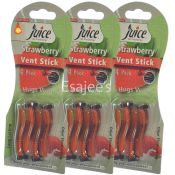 Juice New Vent Stick Strawberry Air Freshener