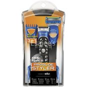 Gillette Fusion Razor 3-In-1 Trimmer Proglider Styler