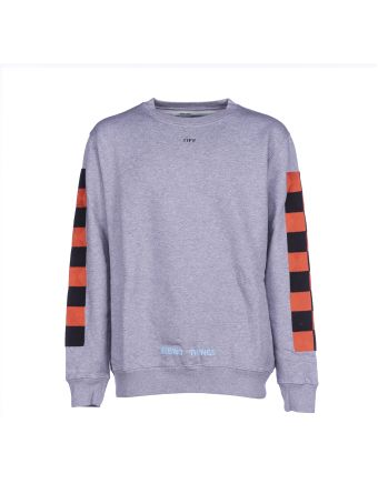 Off White Checker Crewneck