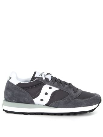 Saucony Jazz Sneaker In Grey And White Suede And Nylon
