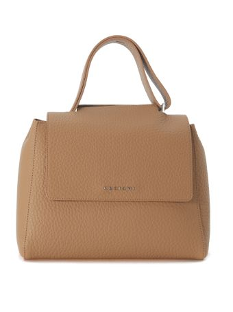 Orciani Tumbled Leather Shoulder Bag