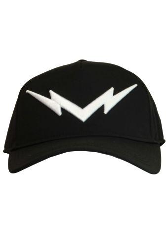 Black&white Lightning Bolt Baseball Cap