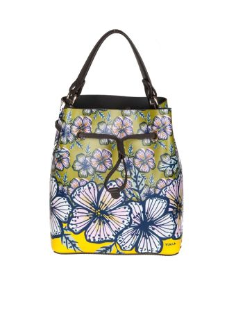 Furla Borsa Stacy S In Pelle Colore Multicolor