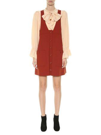 Chloé Wool Pinafore Dress
