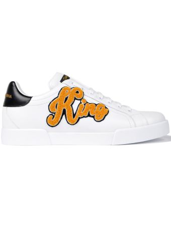 King Patch Low Sneakers