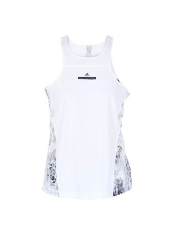 White Flower Print Run Tank