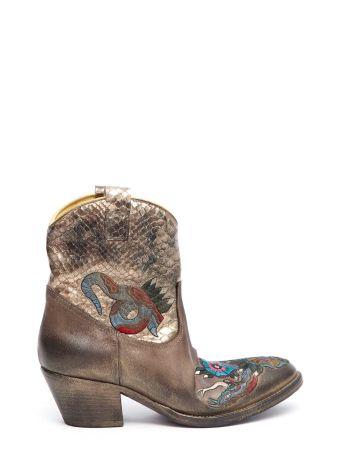 Elena Iachi Embroidered Texas Boots