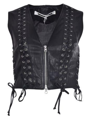 McQ Alexander McQueen Eyelet Lace up Detail Vest