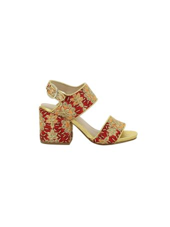 Elena Iachi Embroidered Sandals