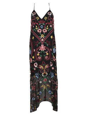 Alice + Olivia Jameson Embroidered Floral Dress