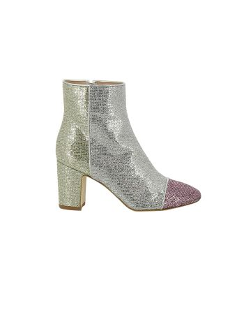 Polly Plume Glitter Ankle Boots