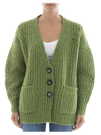 Green Wool Cardigan