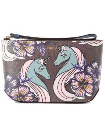 Furla Printed Make-up Clutch