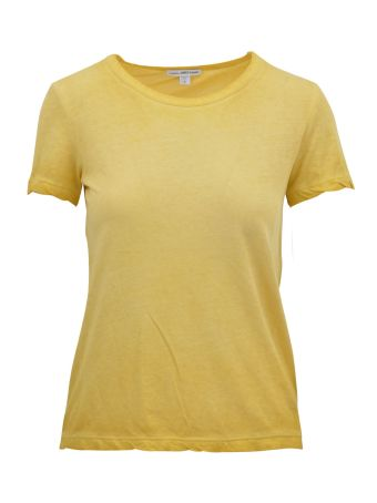 James Perse Overdyed Yellow T-shirt