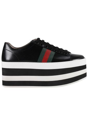 Sneakers Peggy Sneakers With Striped Maxi Plateau And Web Bands