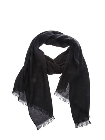 Fendi Double F Wool-silk Blend Scarf