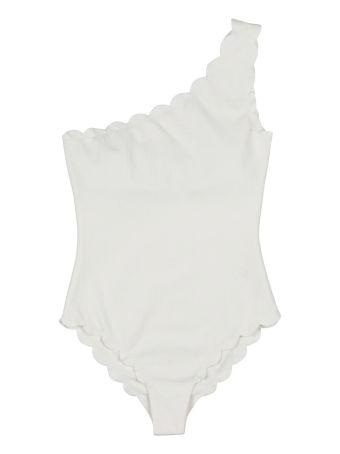 Marysia Swim Santa Barbara One-shoulder Scalloped-edges Swimsuit