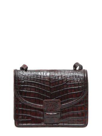 Dries Van Noten Faux Crocodile Leather Shoulder Bag