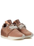 Esseutesse Bronze Suede And Fabric Sneaker