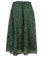Valentino Flared Floral Lace Skirt