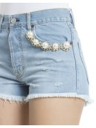Light Blue Cotton Shorts