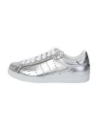 Silver Laminated Leather Sneakers