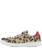 Leather Sneakers Animal Print