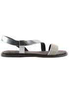Brunello Cucinelli Metallic Flat Sandals