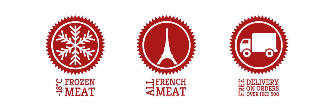Frozen Meat, All French Meat, Free Delivery