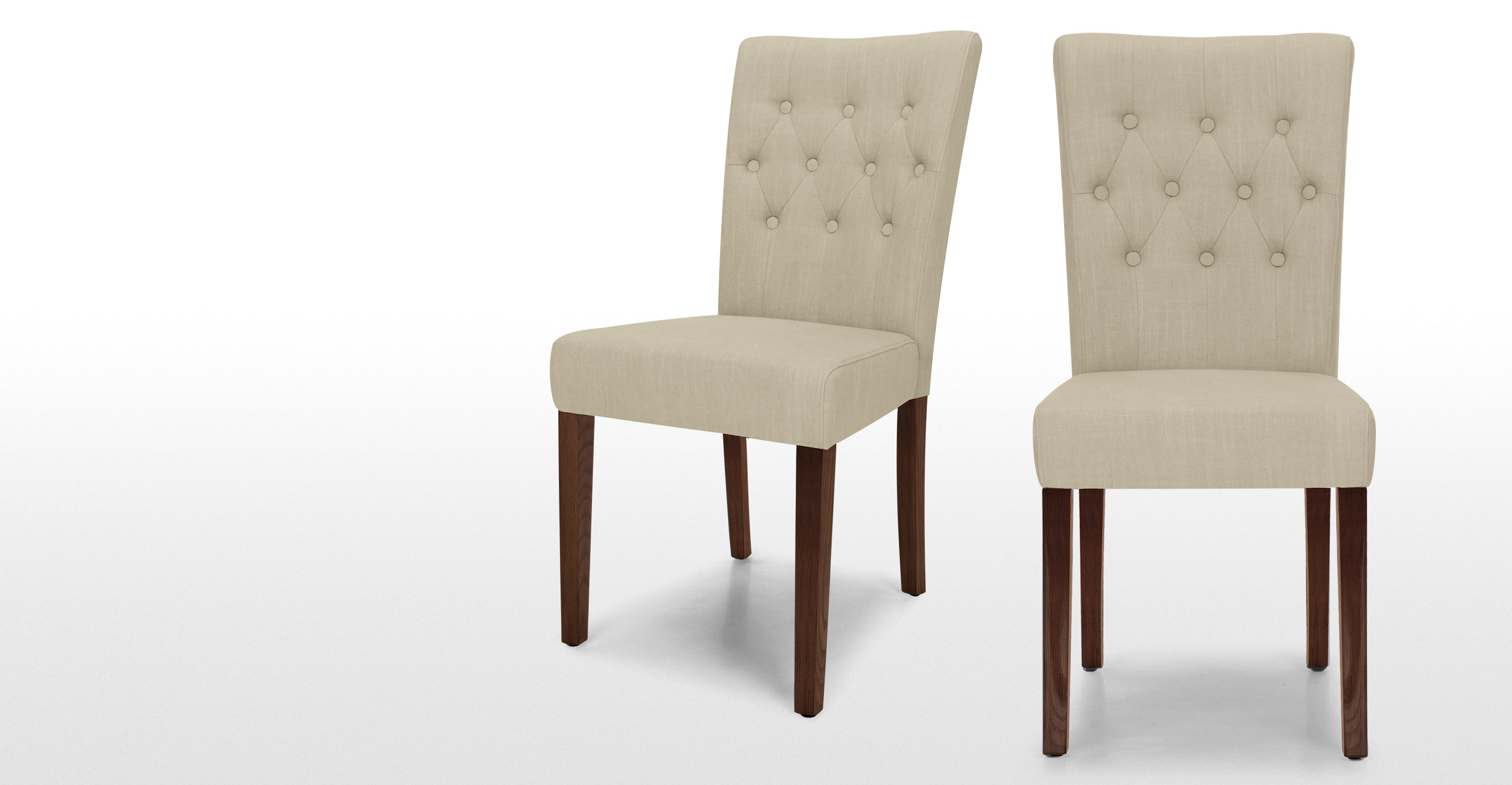 Pair of Flynn Dining Chairs in biscuit beige