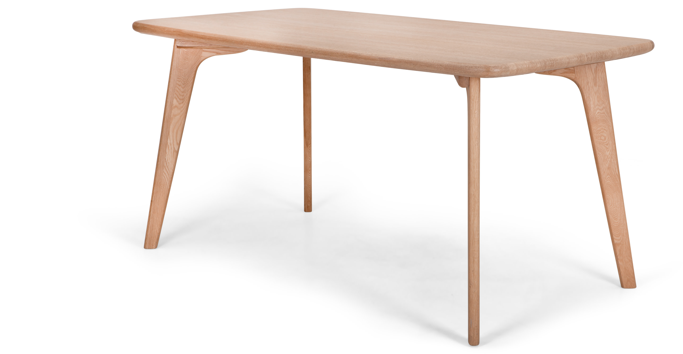 Fjord rectangle dining table oak madecom for Rectangle dining table