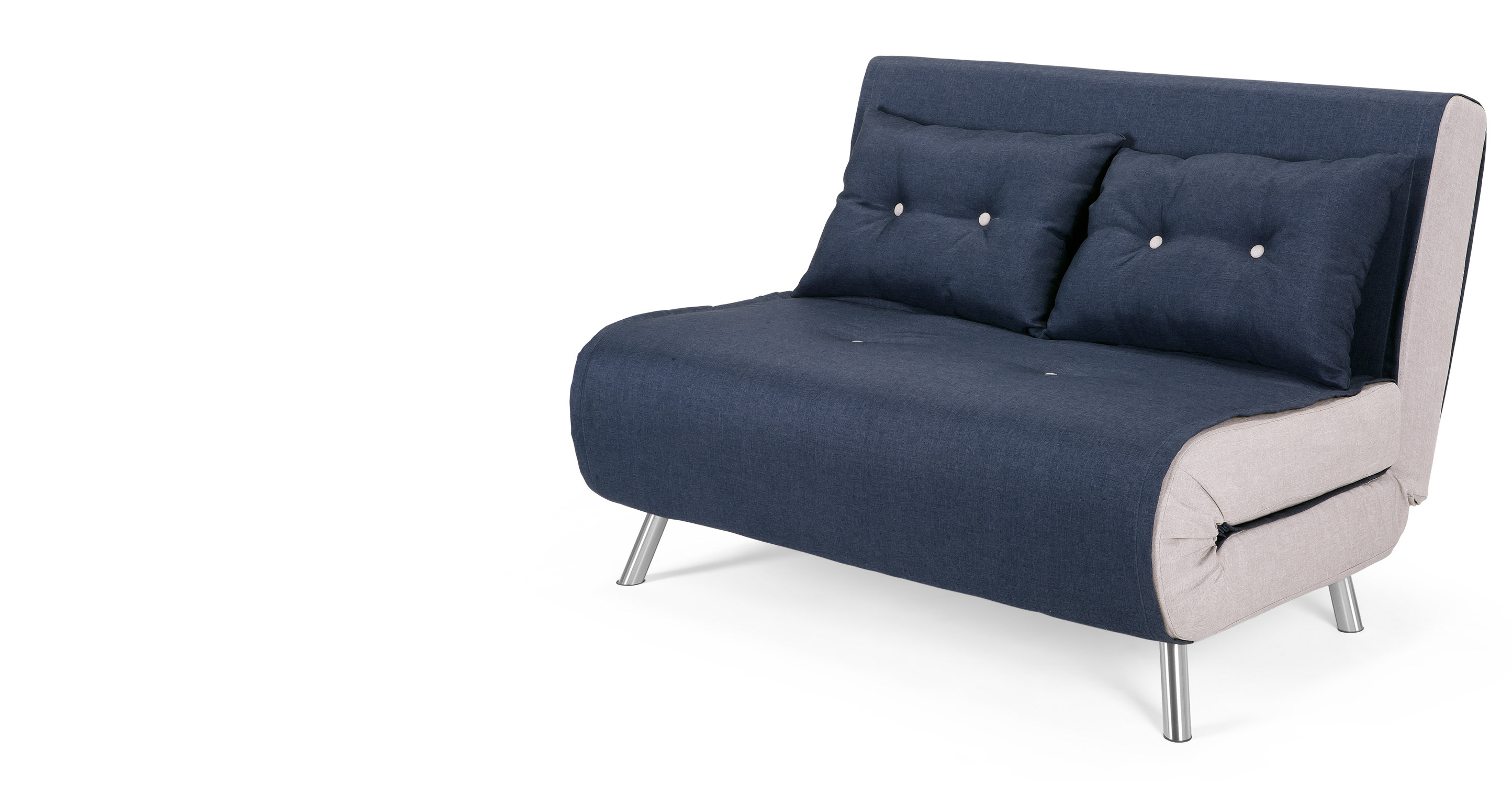 Haru Small Sofa Bed In Quartz Blue Madecom