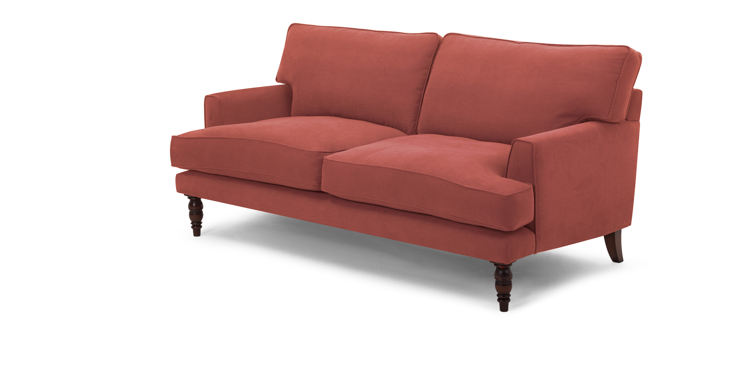 Lawrens 2 Seater Sofa In Terracotta Red