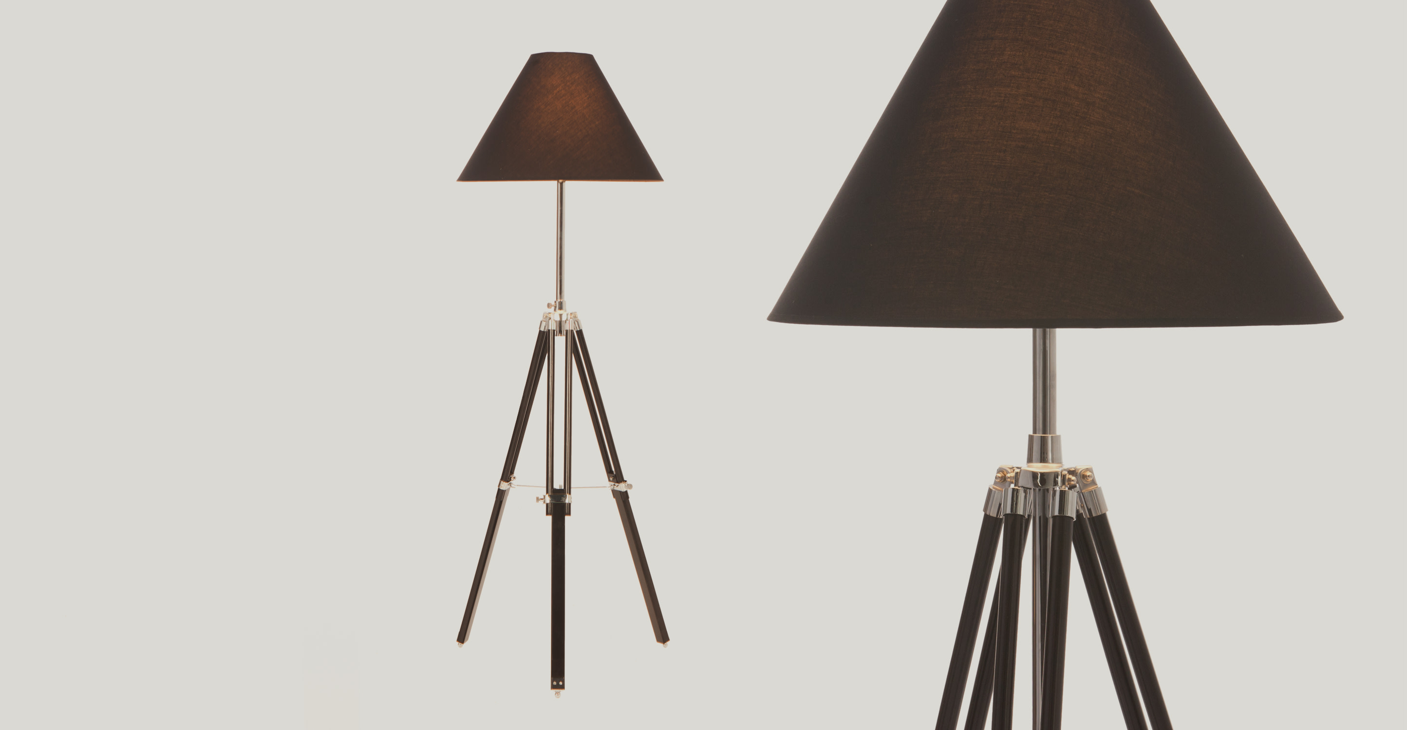 tripod floor lamp the navy available in black. Black Bedroom Furniture Sets. Home Design Ideas